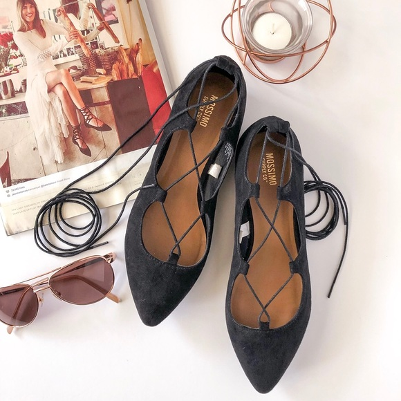 Mossimo Lace Up Point Toe Ballet Flat